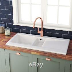 Genuine RAK 1.5 Bowl Gourmet Ceramic Kitchen Sink Reversible Drainer DSINK1
