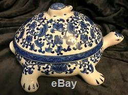 Gorgeous Bombay China Porcelain Pottery Ceramic Turtle Tureen Server 15 D