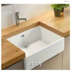 Grasmere By Wren Single Bowl Belfast Or Butler Style White Ceramic Sit In Sink