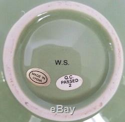 HTF WHITNEY SMITH POTTERY Set of 8 LOTUS NESTING BOWLS CELEDON GREEN NWOT