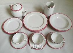 Habitat Kristina England Pink Set Dinner Plates Tea Cup Pot Bowl Rare 17 piece