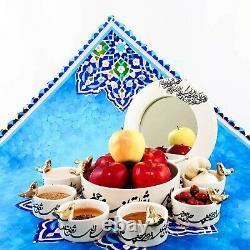 Haft Seen, Persian Haftsin, Art of Persian Calligraphy Dinning Set, Nowrooz
