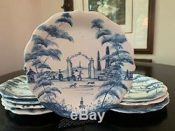 JULISKA Country Estate Blue Dessert/Salad Plates Set of 8