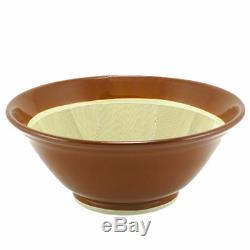 Japanese 15.5D Ceramic Suribachi Mortar Food Preparation Bowl, Made in Japan