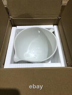 KitchenAid Hobnail White Ceramic Mixing Bowl 5-Quart, New (I4)