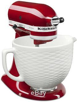KitchenAid KSMCB5TLW 5-Qt. Tilt-Head Textured Ceramic Bowl White Chocolate