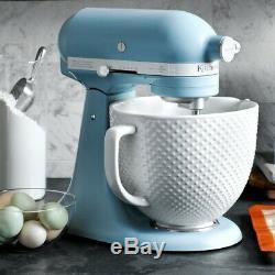 KitchenAid Ltd Edition Heritage Artisan Model K 5-Qt Mixer Ceramic Hobnail Bowl