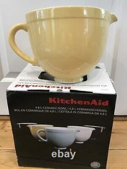 Kitchen Aid Mixer Ceramic Batter Bowl, Majestic Yellow, Attachment Accessory BNIB
