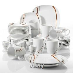 Kitchen Ceramic Dinnerware Dinner Set Plates Bowls Crockery Dining Service Gift