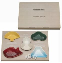 LE CREUSET New Year Collection Mini dish 5 sheets Fan Snapper Gourd Pine Mt Fuji