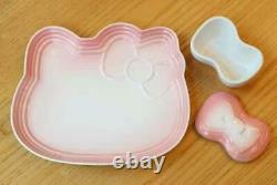 Le Creuset Hello Kitty Collaboration Plate 7-piece Set Pink Sanrio New