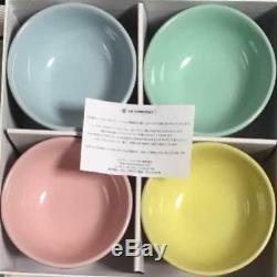 Le Creuset Ice Cream Bowl Sorbet Collection set of 4 NEW from Japan