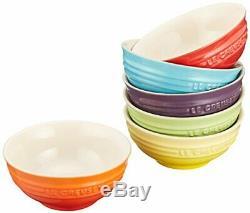Le Creuset Mini Bowl Heat-Resistant Ceramic 6 Pieces Rainbow Collection withtrack