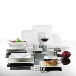 MALACASA ELISA 30PCS Ceramic Porcelain Dinner Kitchen Dinnerware Set Plate Bowls