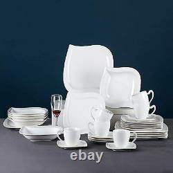 MALACASA Elvira 36 Kitchen Dinnerware Set Plates Cereal Bowl Coffee Cups Saucers