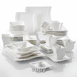 MALACASA FLORA 42X Ceramic Porcelain Dinner Set Plates Bowls Cups Home Tableware