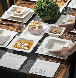 MALACASA MARIO 56x White Porcelain China Dinner Set Tableware Plates Cereal Bowl