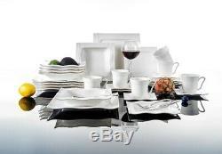 MALACASA Mario 60PCS Ceramic Porcelain Dinner Dinnerware Set Plate Bowls Mugs