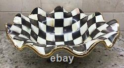 MacKenzie-Childs Courtly Check Serving Bowl New