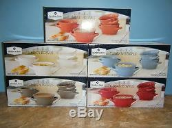 Member's Mark Set Of 4 Persimmon Color Tuscan Bowls New