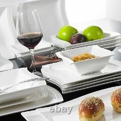 Modern Dining Sets 26PC Ceramic Crockery Dinner Set Service for 6 Plates Bowls