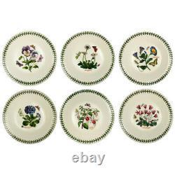 NEW Portmeirion Botanic Garden Soup Plate Set 6pce