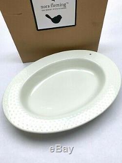 NORA FLEMING NIB Swiss Dot Oval Bowl Old Style Serving Platter Dish Plate