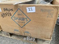 New In box Shaws Classic Kitchen Butler Sink Ceramic White single bowl Scbu 800