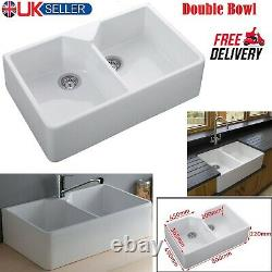 New RAK Ceramics Gourmet Sinks 10 2.0 Bowl White Ceramic Belfast Kitchen Sink UK