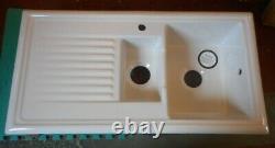 New Reginox kitchen sink, model RL301CW reversible 1.5 bowl in white ceramic