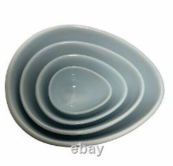 Nigella Lawson Egg Shaped Ceramic Mixing Nesting Bowls Set of 4
