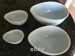 Nigella Lawson Living Kitchen Egg shape Mixing Bowls Set of 4 Blue