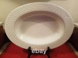 Nora Fleming Swiss Dot Oval Serving Dish/Bowl 10 1/2 x 15