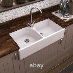 Nuie Athlone Ceramic Kitchen Sink 2.0 Bowl 795mm L x 500mm W White
