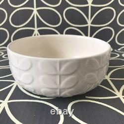 ORLA KIELY Box of Four Signature Cream Raised Stem Cereal Bowls NEW in Box