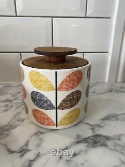 Orla Kiely Scribble Stem Bread Bin, Spaghetti Jar, Fruit Bowl, Cannister&Utensil