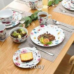 PRE ORDER Doris 32 Piece Ceramic Porcelain Dinner Dinnerware Set Plate Bowls