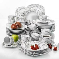 PRE ORDER Serena 60X Ceramic Porcelain Dinner Set Plates Bowls Cups Tableware