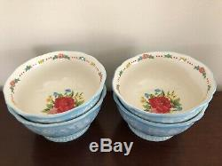 Pioneer Woman Sweet Rose 12 Pc Place Setting 4 Dinner 4 Salad 4 Bowls NEW