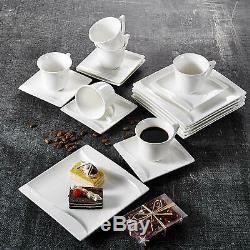 Porcelain Ceramic Crockery Dinner Set Desert Soup Plates Cereal Bowls Mugs Set