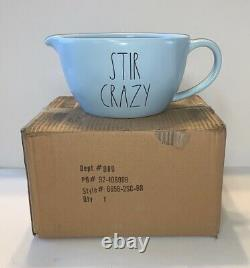 RAE DUNN Stir Crazy Batter Bowl BLUE/BLACK NEW Box Kitchen Baking Cooking