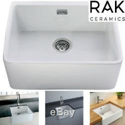 RAK Ceramic Kitchen Sink 2 Gourmet Bowl Sinks White Ceramics Belfast Traditional