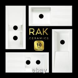 RAK Ceramics 1.0 OR 1.5 Bowl Gourmet Dream Kitchen Sink Drainer Waste Kit Option