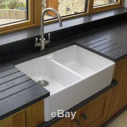 RAK Ceramics Gourmet Sink 10 2.0 Bowl White Ceramic Belfast Kitchen Sink