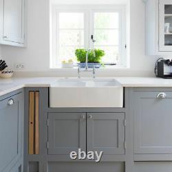 RAK Ceramics Gourmet Sink 10 2.0 Bowl White Ceramic Belfast Kitchen Sink New