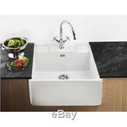 RAK Ceramics Gourmet Sink 14 1.0 Bowl White Ceramic Kitchen Sink