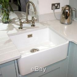 RAK Ceramics Gourmet Sink 2 1.0 Bowl White Ceramic Belfast Kitchen Sink