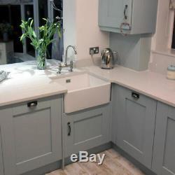 RAK Gourmet 2 Belfast Kitchen Sink 1.0 Bowl White Ceramic + WASTE STRAINER KIT