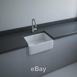 RAK Gourmet 2 Ceramic Belfast Kitchen Sink 1.0 Bowl 595mm L x 475mm W White
