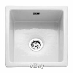 RAK Gourmet 6 Ceramic Belfast Kitchen Sink 1.0 Bowl 450mm L x 475mm W White